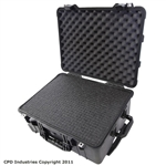 Pelican Case 1560 with Pre-Scored closed cell Polyethylene Foam