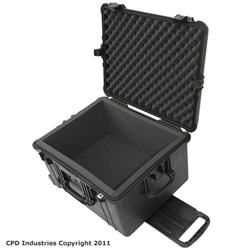 Pelican 1620 case with foam liner & filled with solid foam layers