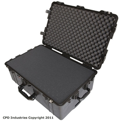 Pelican 1650 case with Pick & Pluck Polyurethane foam & Convoluted Lid