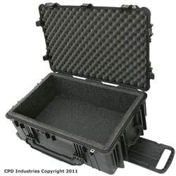 Pelican 1650 case with foam liner & filled with solid foam.