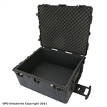 Pelican 1690 case with 1 in. foam liner & filled with 1 in. solid foam layers