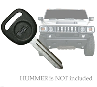 OEM Replacement Transponder Blank Ignition Un-Cut Key for Hummer 15898567