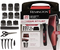Remington 2-1 Combo Corded Men Hair Clipper Grooming Trimmer HairCutting Kit