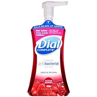 Dial Antibacterial Liquid Hand Foaming Wash Soap Kills 99.9% Bacteria