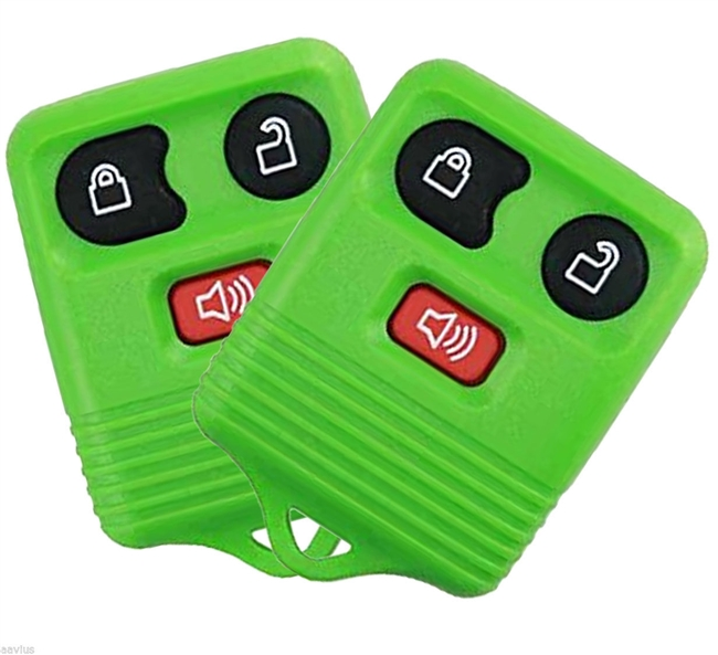 Best Replacement Keyless Entry Remote 3 Button Key Fob for Select Ford Cars and Trucks 2 Pack Green