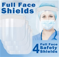 Safety Face Shield Full FaceShield Clear Disposable Optical Transparent Eye Nose Protective Cover