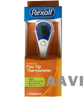 REXALL Comfortable Oral 8 Second Kids Adults Digital Thermometer