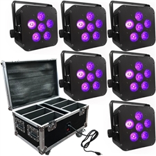 Wedding Up Lighting - 6 LED Battery Powered Wireless Lights and Case