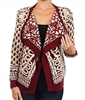 Scroll Knit Cardigan