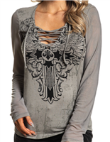 Syndic Long Sleeve V Neck