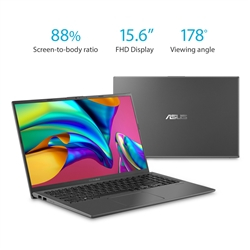 "ASUS VivoBook F512DA 15.6"" Laptop AMD Ryzen 3 up to 3.5GHz, 4GB RAM, 128GB M2 SSD, HDMI, Wi-Fi, Bluetooth, Windows 10"