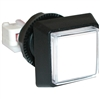 Large Square Illuminated Pushbutton - White