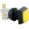 Small Square  Illuminated Pushbutton - Yellow