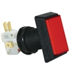 Medium Rectangle Illuminated Pushbutton Red