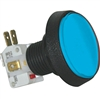 Medium Round Illuminated Pushbutton - Blue
