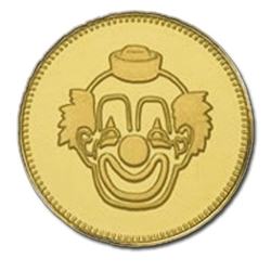 Brass Token .984 With Clown Logo (1000/Bag)