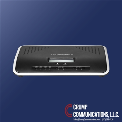 Grandstream UCM6202 | IP PBX Appliance | 500 users | 30 concurrent calls | 3 conference bridges and 25 conference participants | LAN/WAN Gigabit network ports | integrated PoE | 50 SIP accounts