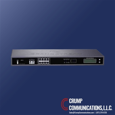 Grandstream | UCM6208 | IP PBX appliance | 500 users | 60 concurrent calls | 6 conference bridges | 32 conference participants | LAN/WAN Gigabit network ports | PoE | 50 SIP trunk accounts |  2 FXS | 2 FXO | multi-site deployment