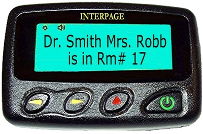 Interpage 2190 2/4 Line Alphanumeric Pager