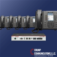 Allworx 324 server with 5 Allworx Verge 9312 phones, by Crump Communications.