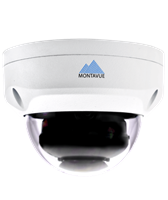 Montavue 2K 4MP Indoor/Outdoor HD IP Vandal Dome Camera with Color Night Optics Night Vision