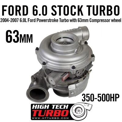 2004-2007 6.0L Ford Powerstroke Turbo with 63mm Compressor wheel
