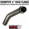 "DURAMAX 4"" DOWNPIPE FOR T4 TURBOS"