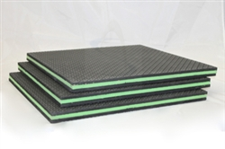 "TriCore 1"" x 18"" x 18"" Green Series Vibration Isolation Rubber Foam Pads"