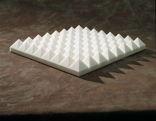 Sonex Acoustical Pyramid Panels In Natural White 4 Quot X 2