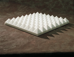 "SONEX Acoustical Pyramid Panels in Natural White | 4"" x 2' x 2'"
