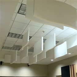 "Whisperwave Natural Gray Acoustic Baffles: 2"" x 24"" x 48"""