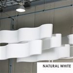 Whisperwave Natural White Acoustic Ribbon Baffles | 2x12x48