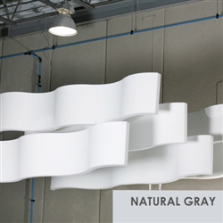 "Whisperwave Natural Gray Ribbon Baffles | 2""x12""x48"""