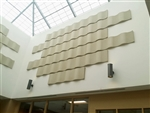 "Whisperwave Natural White Acoustic Wall Panels: 2"" x 12"" x 48"""