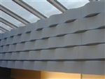 "Whisperwave Natural Gray Acoustic Baffles: 2"" x 12"" x 48"""