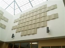 "Whisperwave Ribbon Wall Panels in Premium HPC Colors: 2"" x 12"" x 48"""