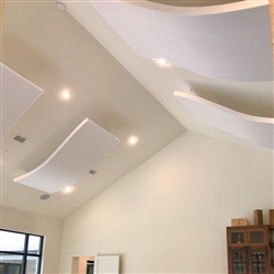 "Whisperwave Curved Acoustic Ceiling Clouds | 3"" x 48"" x 96"""