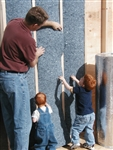 "UltraTouch LEED Certified Denim Insulation: 8"" x 24"" x 48"""