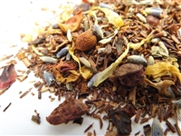 Red Christmas Rooibos Tea with Rose Petals