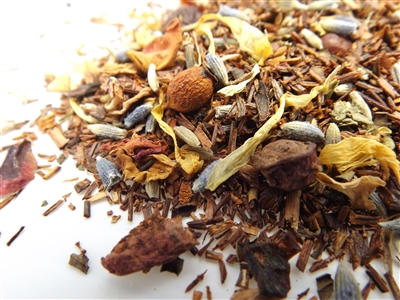 organic Red Christmas Rooibos Tea with Rose Petals