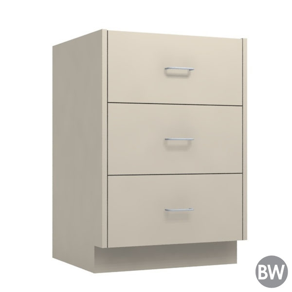 24 3 Drawer Base Cabinet