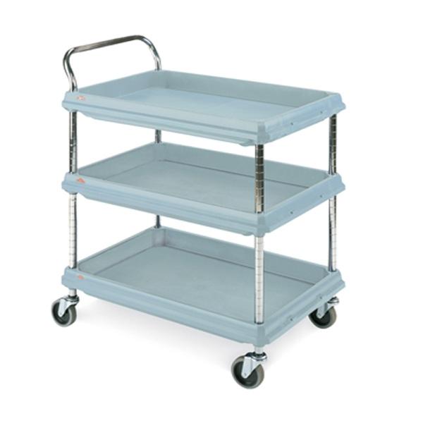 Metro BC2636-3D Deep-Ledge Polymer Utility Cart - 3 Shelf Unit