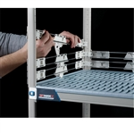"2"" MetroMax Q Stackable Shelf Ledges- Side (24""D Shelf)"