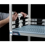 "2"" MetroMax i Stackable Shelf Ledges- Back (60""W Shelf)"