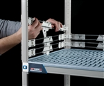 "2"" MetroMax i Stackable Shelf Ledges- Side (24""D Shelf)"