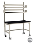 "TOD Rapid Ship Table with Overhead Shelving Kit - 60"" W"