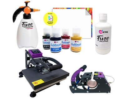 "ET-2750 FabriMate LS (8.5"" x 11"") <br> Solution + Heat Press Bundle"