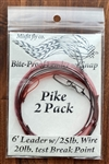 MISFIT PIKE LEADER 6' 20lb. w/BITE WIRE TIPPET