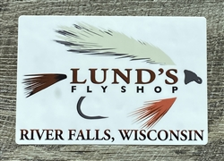 LUND'S FLY SHOP DECAL