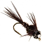 NYMPH HEAD TUNGSTEN BH PHEASANT TAIL BLACK - SIZE 16